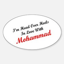 In Love with Mohammad Oval Decal