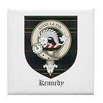 Kennedy Clan Crest Tartan Tile Coaster