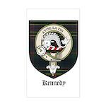 Kennedy Clan Crest Tartan Rectangle Sticker