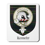 Kennedy Clan Crest Tartan Mousepad