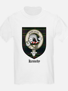 Kennedy Clan Crest Tartan Kids T-Shirt