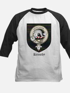 Kennedy Clan Crest Tartan Kids Baseball Jersey