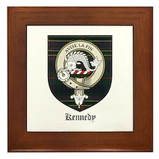 Kennedy Clan Crest Tartan Framed Tile