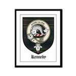 Kennedy Clan Crest Tartan Framed Panel Print