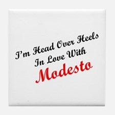 In Love with Modesto Tile Coaster