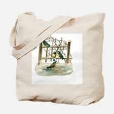 Vintage Birds Tote Bag