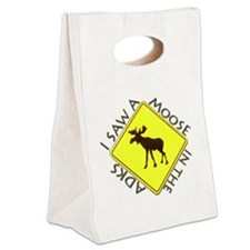 Adirondacks Moose Canvas Lunch Tote