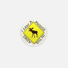 Adirondacks Moose Mini Button