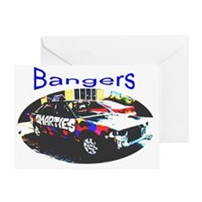 bangers oval Greeting Card