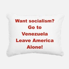 2-WANT SOCIALISM GO TO V Rectangular Canvas Pillow