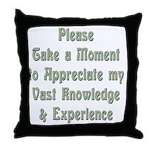 vast knowledge Throw Pillow