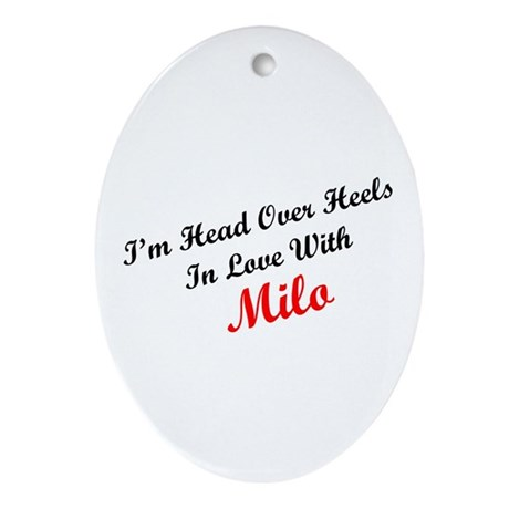 In Love with Milo Oval Ornament