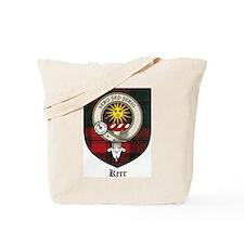 Kerr Clan Crest Tartan Tote Bag