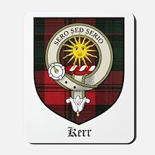Kerr Clan Crest Tartan Mousepad