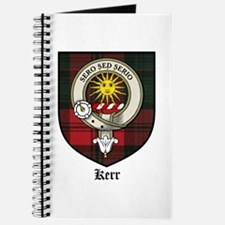 Kerr Clan Crest Tartan Journal