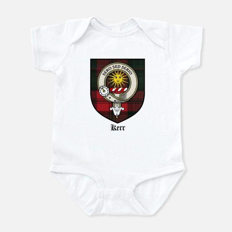 Kerr Clan Crest Tartan Infant Bodysuit