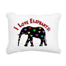 I love Elephants Rectangular Canvas Pillow