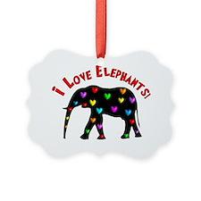 I love Elephants Ornament