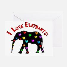 I love Elephants Greeting Card
