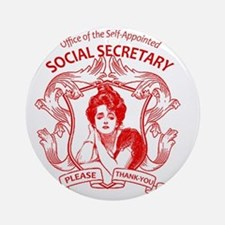 social secretary badge copy Round Ornament