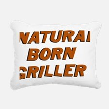 Natural Born Griller Dex Rectangular Canvas Pillow