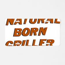 Natural Born Griller Dexter Aluminum License Plate