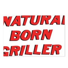 natural born griller Postcards (Package of 8)