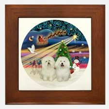 Xmas Magic - Bolognese (two) Framed Tile