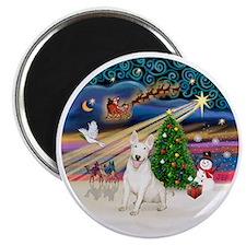 Xmas Magic - Bull Terrier 4 (laugh) Magnet