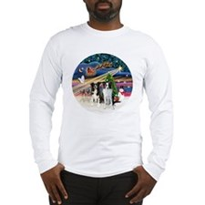 Xmas Magic - Border Collies (t Long Sleeve T-Shirt