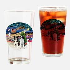 Xmas Magic - Border Collies (two-B- Drinking Glass
