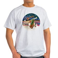 Xmas Magic - Basenjis (two) T-Shirt
