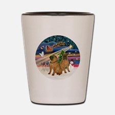 Xmas Magic - Chinese Shar Pei (TWO) Shot Glass