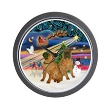 Xmas Magic - Chinese Shar Pei (TWO) Wall Clock