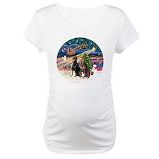 Xmas Magic - Dobermans (TWO-Blk- Shirt