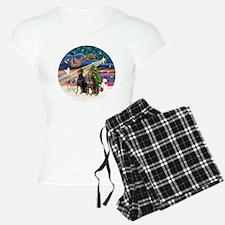 Xmas Magic - Dobermans (TWO Pajamas