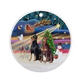 Doberman christmas Ornaments