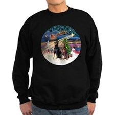 Xmas Magic - Dobermans (TWO-Blk- Sweatshirt