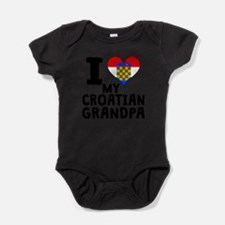 I Heart My Croatian Grandpa Body Suit