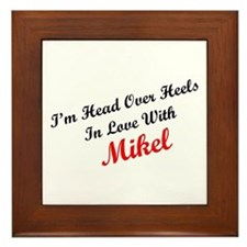 In Love with Mikel Framed Tile