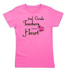 Teachers Have Heart 2 copy Girl's Tee