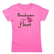 Teachers Have Heart paraeducators Girl's Tee