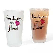 Teachers Have Heart paraeducators Drinking Glass