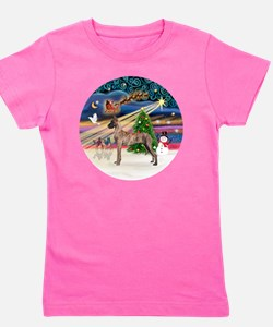 Xmas Magic - Great Dane (brindle stand) Girl's Tee