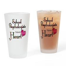 Teachers Have Heart psycho Drinking Glass