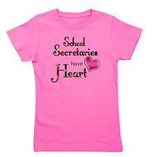 Teachers Have Heart school secretary Girl's Tee
