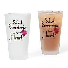 Teachers Have Heart school secretar Drinking Glass