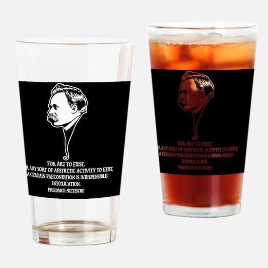 Nietzsche-art-1-BUT Drinking Glass