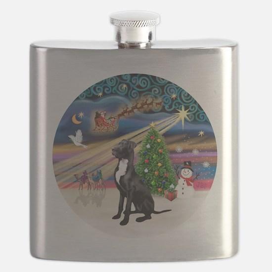 Xmas Magic - Great Dane (black-natural) Flask