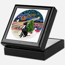 Xmas Magic - Great Dane (black-natura Keepsake Box